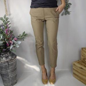 THEORY Thaniel Approach khaki trouser ankle